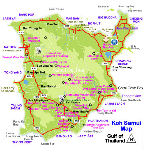Koh-Samui-Map