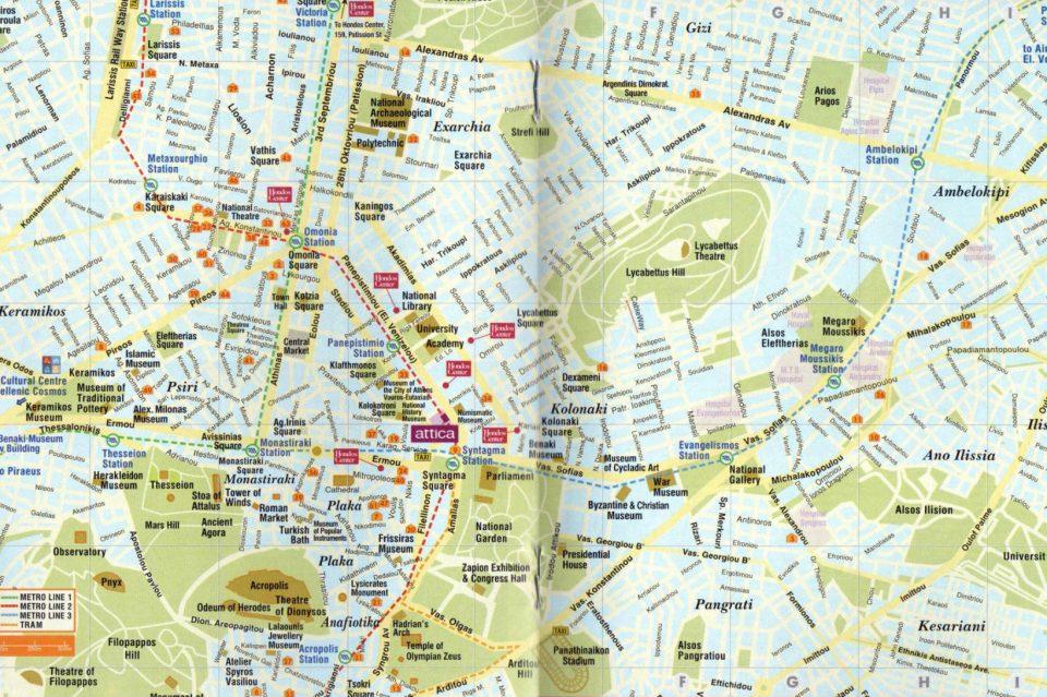 Mappa di Atene
